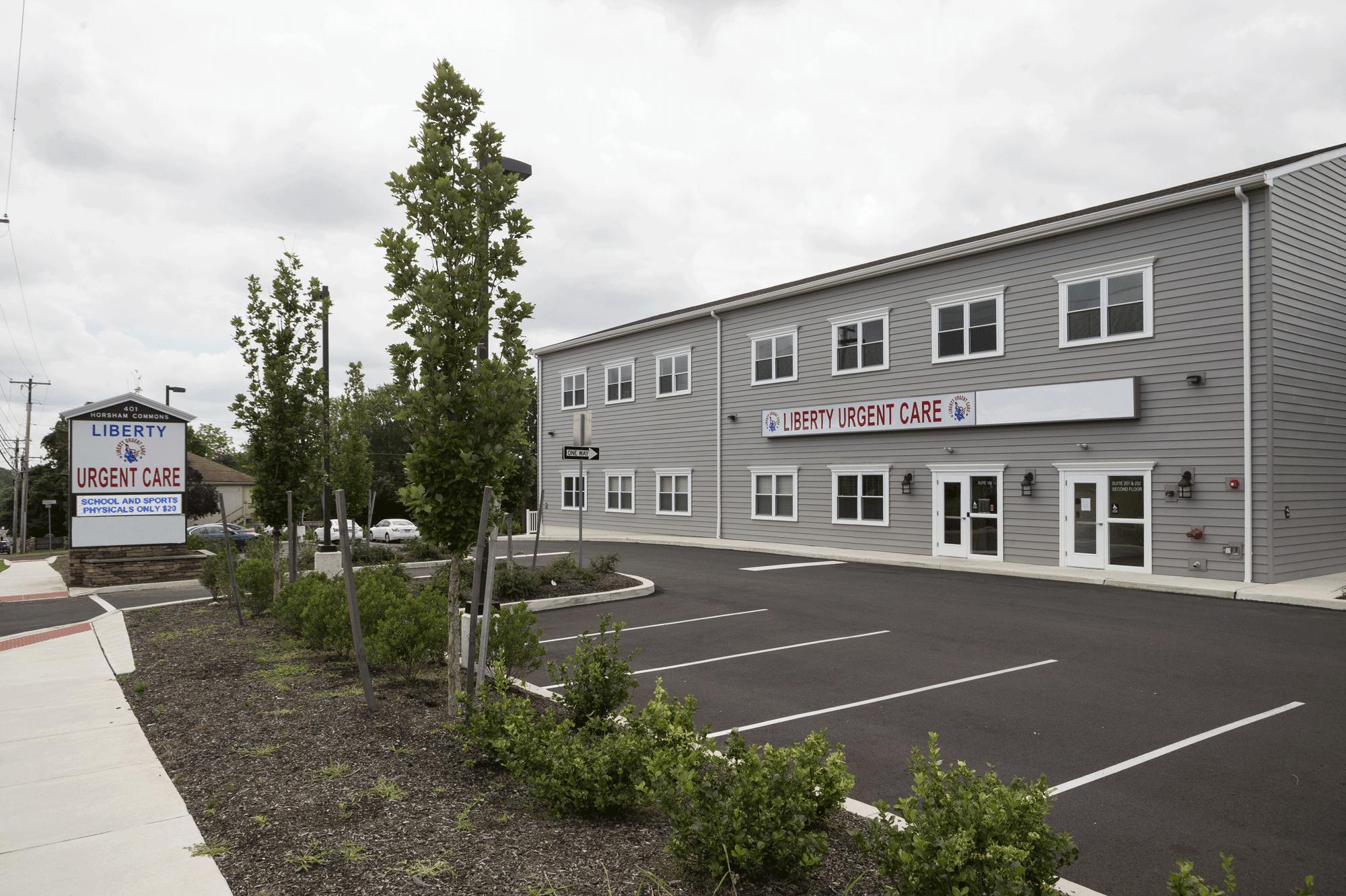 Liberty Urgent Care in Horsham, PA - building exterior
